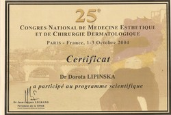 Congres Nationale de Medicine Esthetique et de Chirurgie Dermatologique - Paris 2004