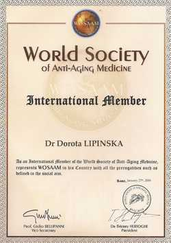 international member - World Society of Anti-Aging Medicine